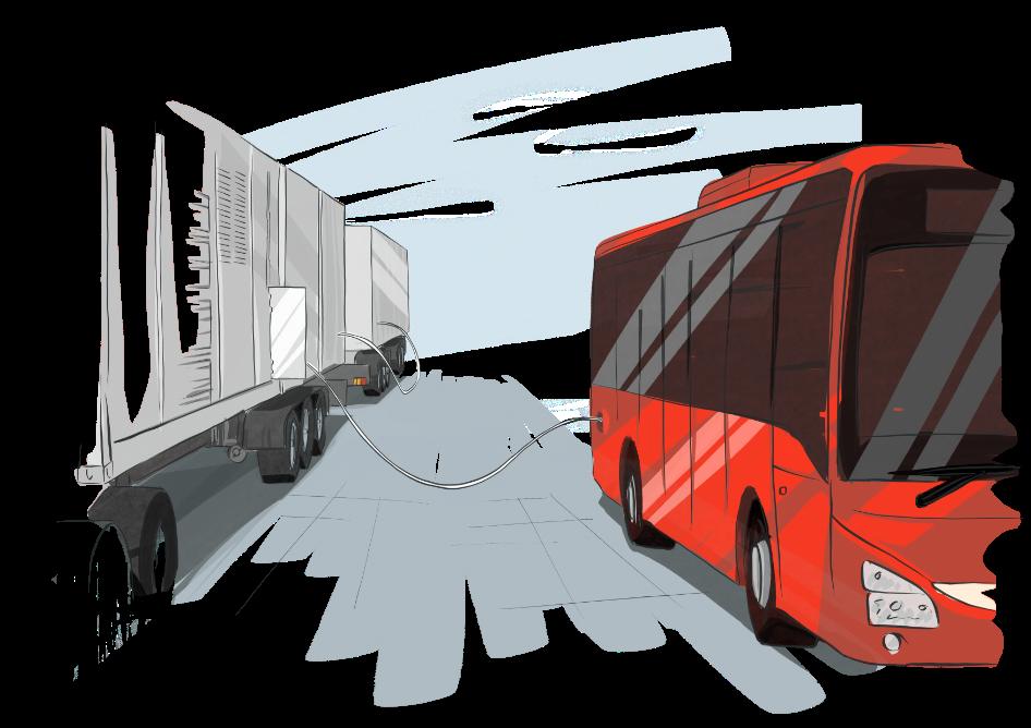 High-pressure gas-cylinder trailers