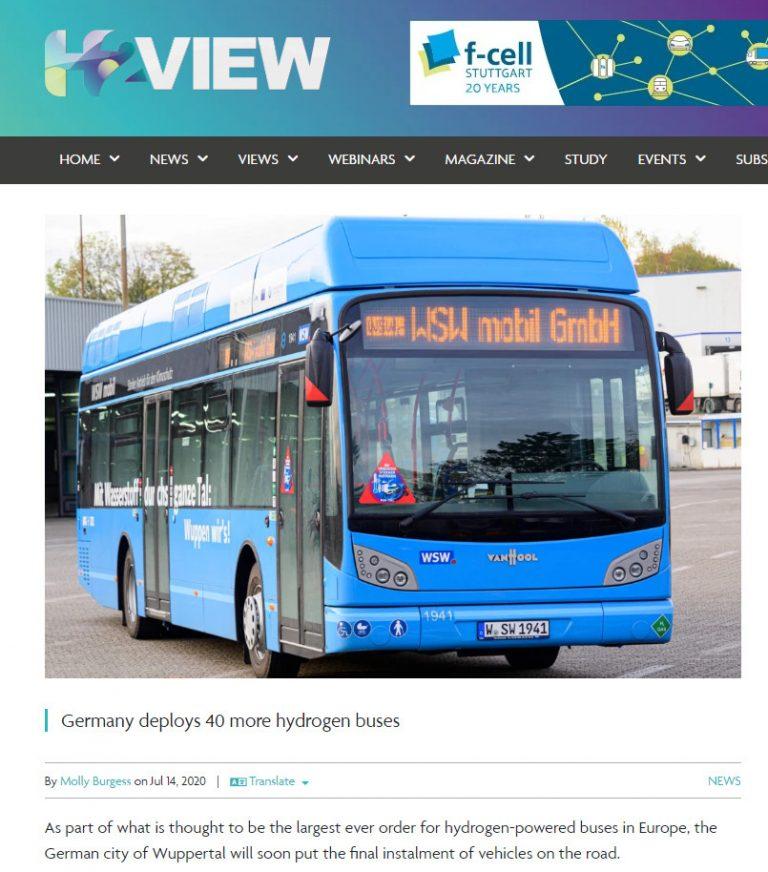 Hydrogen Bus Wuppertal