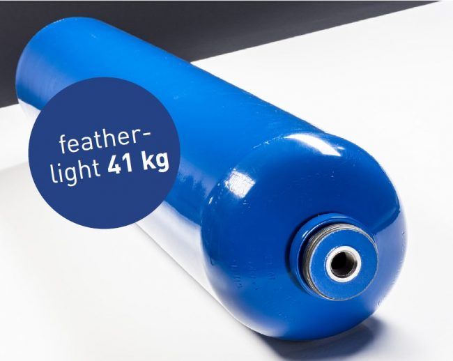 feather-light 41 KG Worthington cylinder